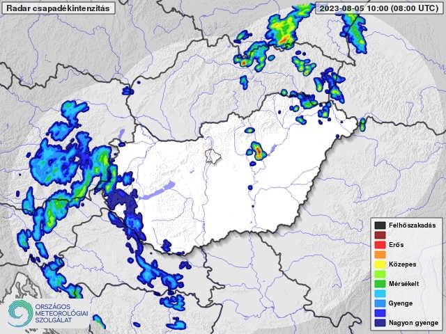 Magyarországi radarkép